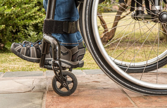 Injury in a wheel-chair